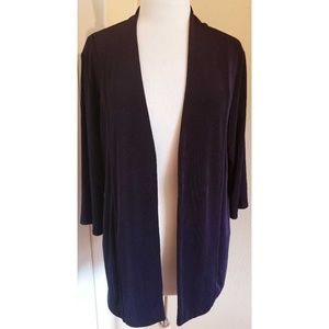 Chico's Travellers Purple Slinky Cardigan Sweater
